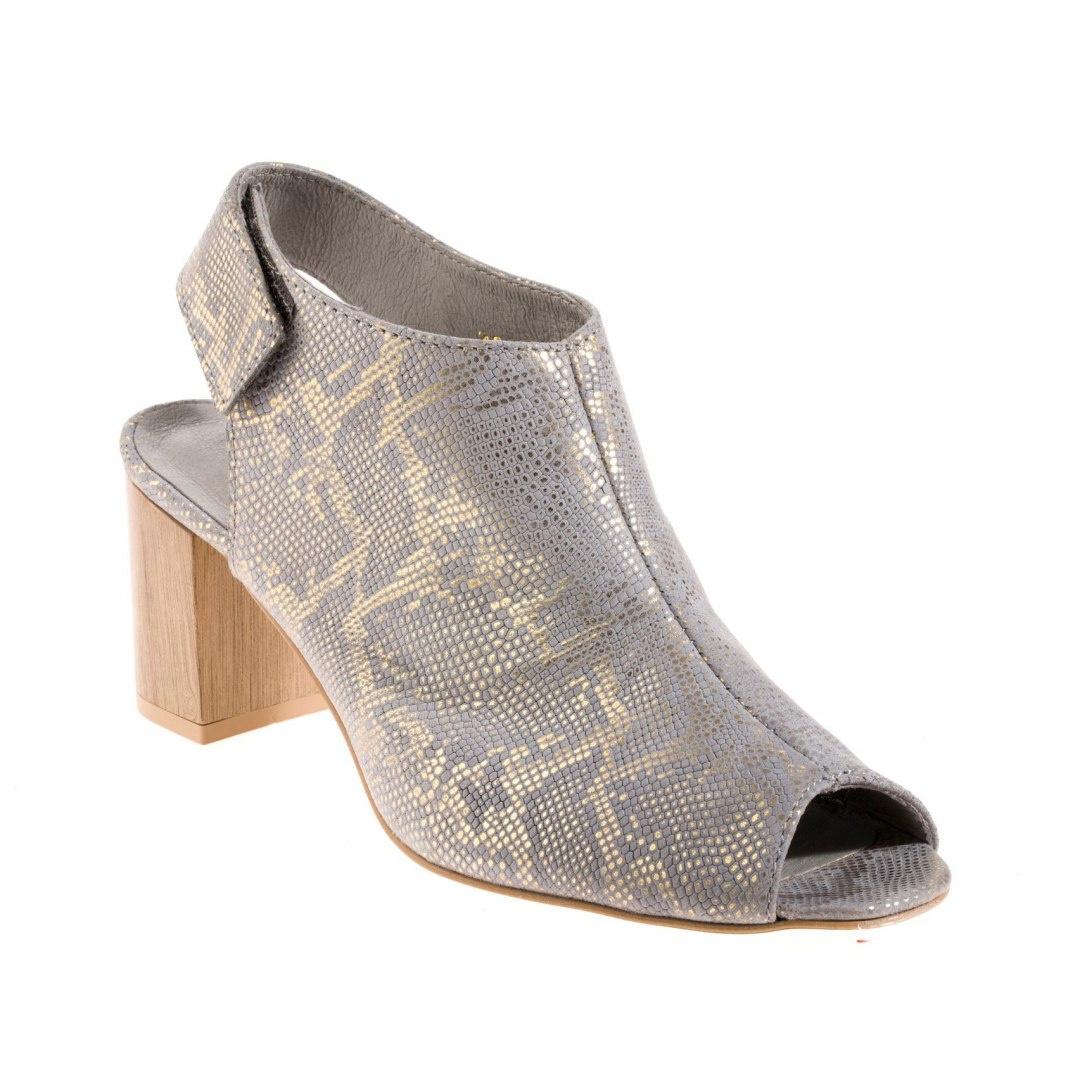 Sandały damskie skórzane złote Dolce Pietro 1021
